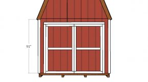 10×20 Gambrel Shed Door Plans