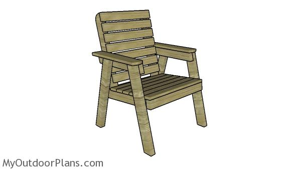 Modern Garden Chair - Free DIY Plans