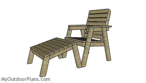 Modern Garden Chair Footrest Plans Myoutdoorplans Free