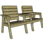 Modern Double Chair Bench – Free DIY Plans
