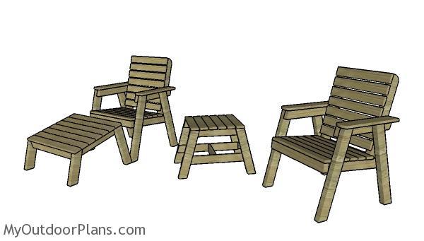 Modern garden chair plans