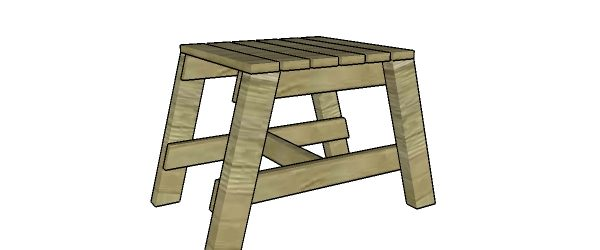Modern outdoor side table plans