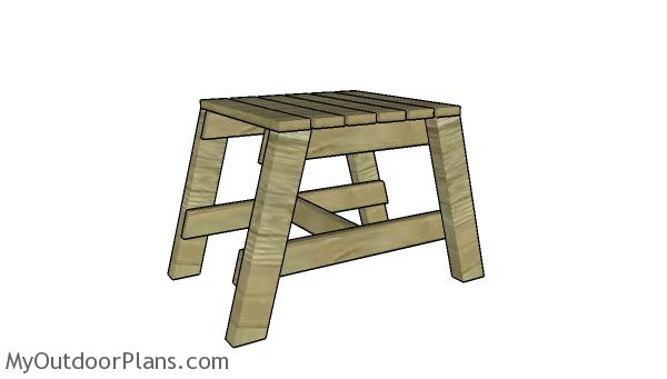 Modern Outdoor Side Table - Free DIY Plans