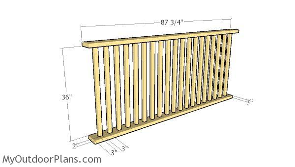 Side railing panels