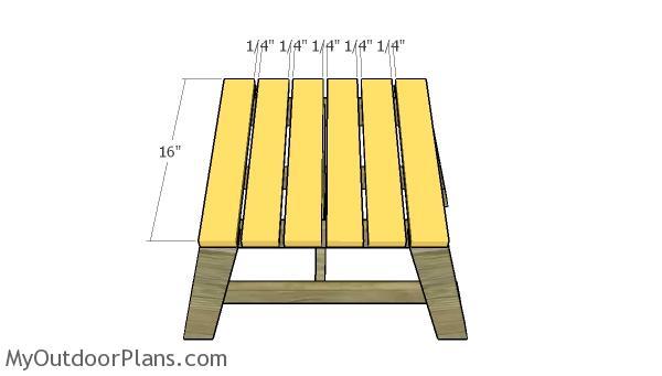 Tabletop slats