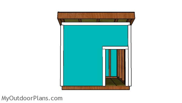 XXL Dog House Plans - Front view