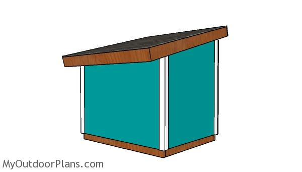 XXL Dog House Plans - back view