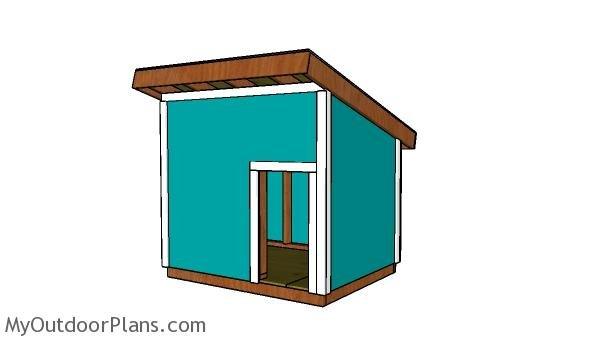 How to build a xxl dog house myoutdoorplans free for Xxl dog house