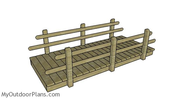 10' Flat Garden Bridge Plans