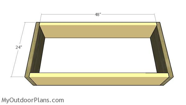 Building the planter box frame