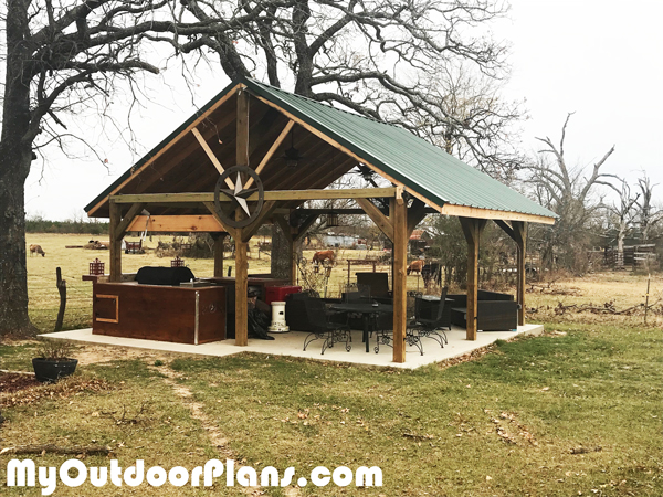 Diy 20x20 Backyard Pavilion Myoutdoorplans Free Woodworking Plans And Projects Diy Shed