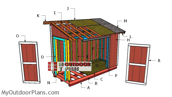 Building-a-5x12-lean-to-shed