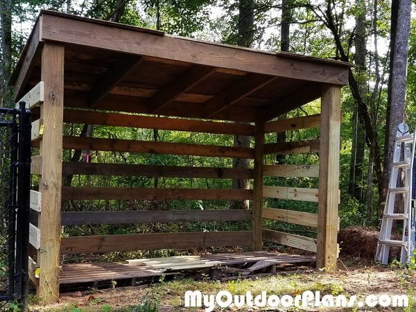 DIY Firewood Shed with Pallet Floor | MyOutdoorPlans ...