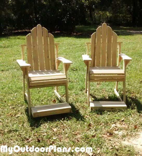 DIY High Adirondack Chair | MyOutdoorPlans | Free ...