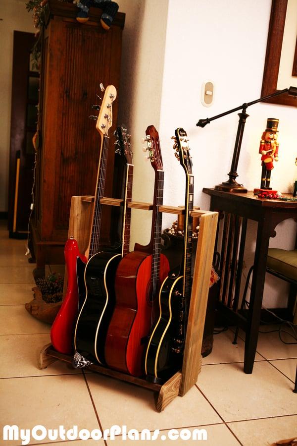DIY Basic Multi-Guitar Stand
