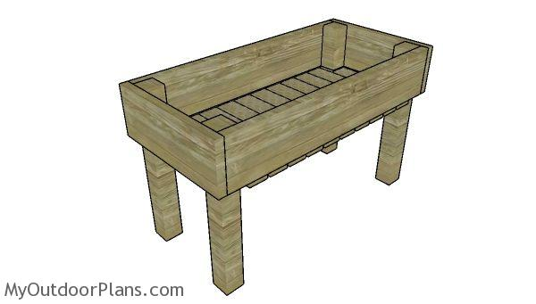 Easy Elevated Planter Box Plans Myoutdoorplans Free Woodworking