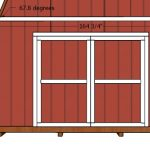 14×20 Barn Shed Doors Plans