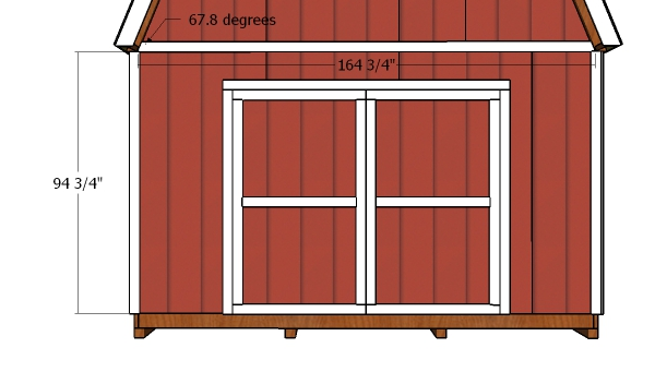 14x20 Barn Shed Doors Plans