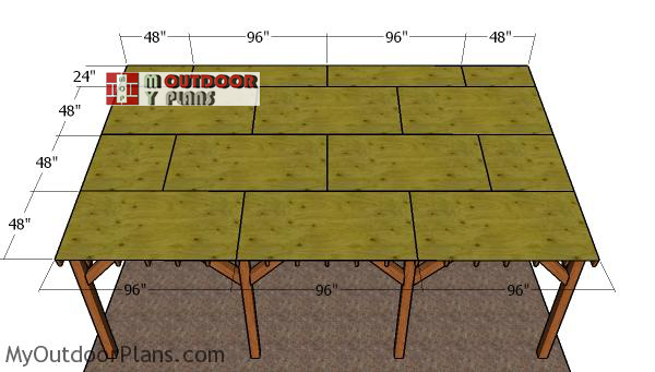 Fitting-the-roof-sheets---carport
