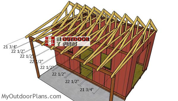 Fitting-the-shed-trusses