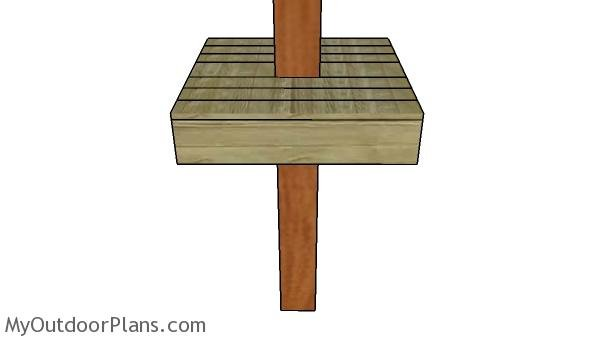 Outdoor Post Table Plans