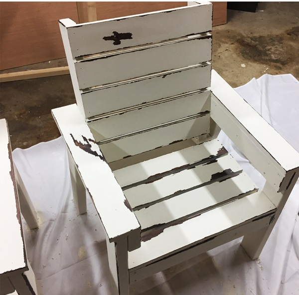 DIY White Garden Chair