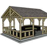15x20 pavilion plans