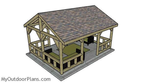 15x20 pavilion plans - top view