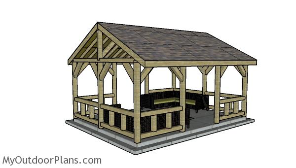 pavilion plans myoutdoorplans  woodworking plans  projects diy shed wooden