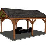 16×24 Backyard Pavilion – Free DIY Plans