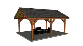 16×24 Backyard Pavilion – Free DIY Plans