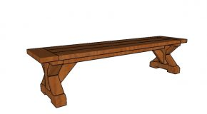 6 ft Farmhouse Bench Plans