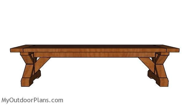 6ft Farmhouse Bench Plans - Free Plans