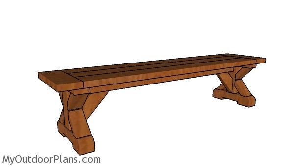 6ft Farmhouse Bench Plans