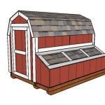 7 ft Tall Barn Chicken Coop Plans