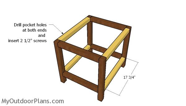 Assembling the frame of the side table