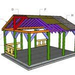 15×20 Pavilion Roof Plans