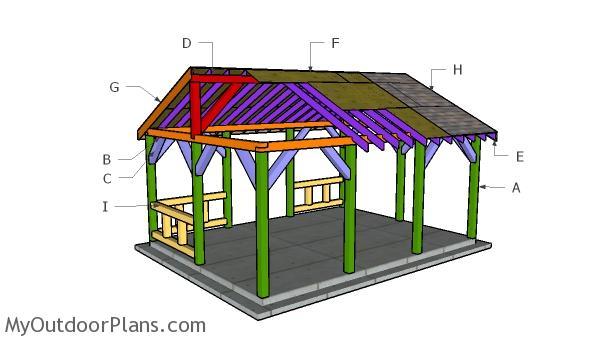 15x20 Pavilion Roof Plans