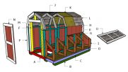 7 ft Tall Barn Chicken Coop Roof Plans