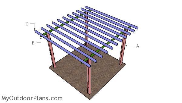 Building a 8x8 peegola