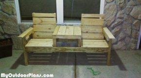 DIY Pallet Double Chair Bench