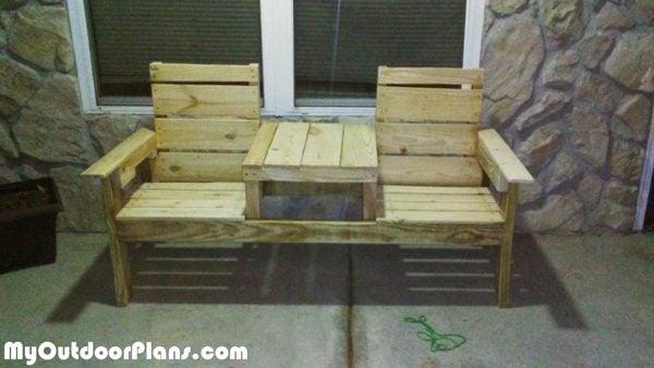 DIY Pallet Double Chair Bench | MyOutdoorPlans | Free ...