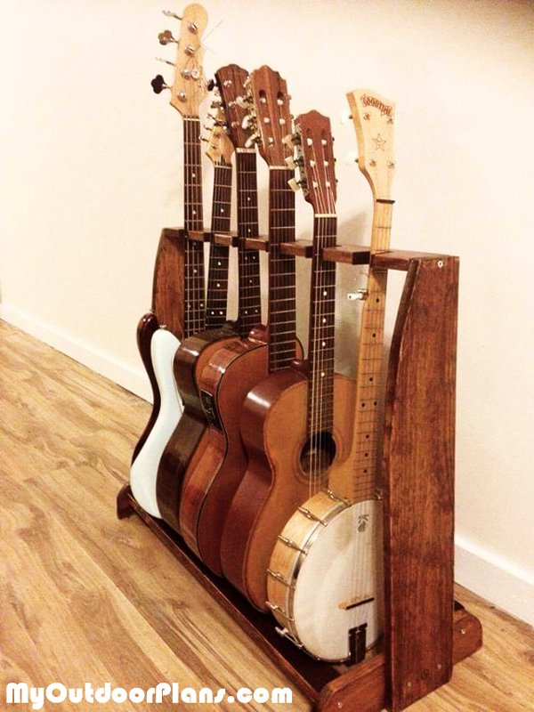 DIY Espresso Guitar Stand | MyOutdoorPlans | Free Woodworking Plans and Projects, DIY Shed ...