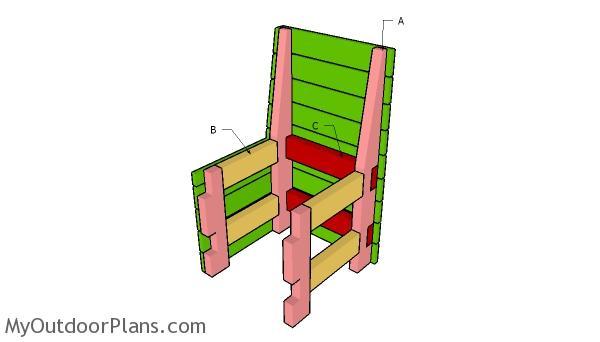 Building a modern outdoor chair