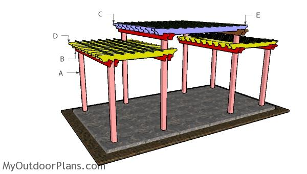 Do It Yourself Home Design: Tiered Pergola Plans