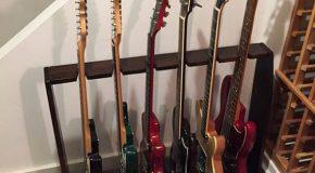 DIY Espresso Guitar Stand