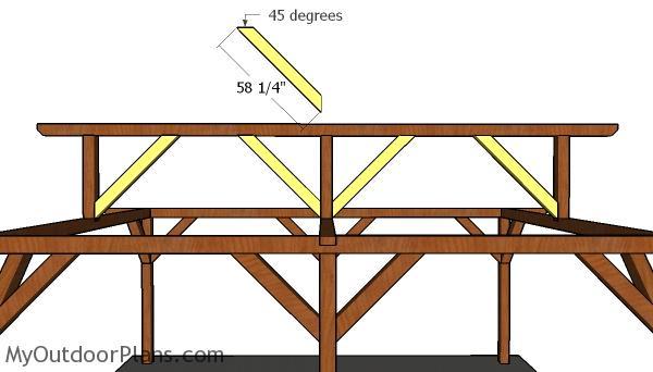 Fitting the top ridge braces