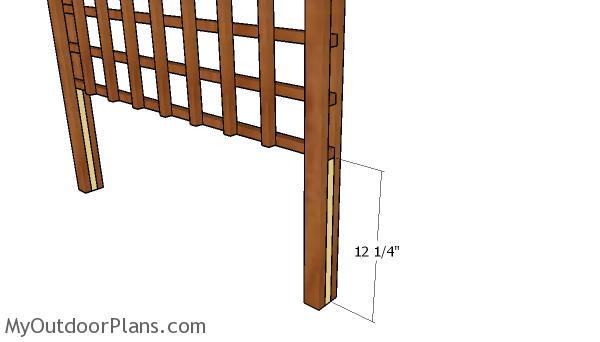 Fitting the trellis blocking