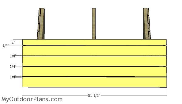 Front slats