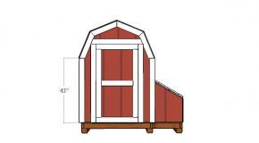7 ft Tall Barn Chicken Coop Door Plans